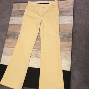Soft Yellow Corduroy Theory Pants size 6